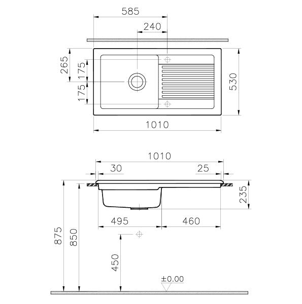 reginox ceramic kitchen sink single bowl reversible. Black Bedroom Furniture Sets. Home Design Ideas